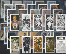 BROOKE BOND-BLACK BACK REPRINT-FULL SET- OLYMPIC GREATS (40 CARDS) - EXC+++