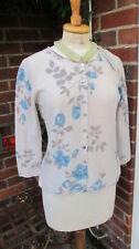 Cardigan da donna in lana blu
