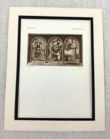 1927 Antique Print The Life of St Anthony of Padua David Dutch Old Master RARE