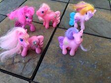 """Lot Of 5 My Little Pony - Metallic Chrome Mini Figures SET of BASE FIGURES 3"""" @"""