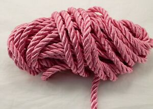 Twisted Drapery Cord HOT PINK - 8 YDS - New