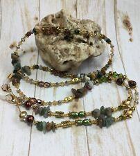Handmade Stone,Pearl Crystal Eyeglass Chain/Lanyard W/Swarovski Elements USA