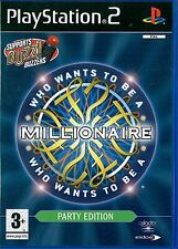 Who Wants To Be A Millionaire? Party Edition Sony PS2 3+ Trivia Quiz Game