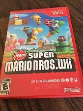 New Super Mario Bros Wii Nintendo Wii Nice Shape All Insets Manual NG6