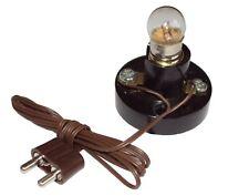 Illu-Fassung E10 mit Birnchen,Kabel,Stecker Lampe für Krippe, Lichterhaus 3,5V