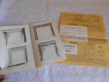 Vintage catalogue marble fire places 1925 leriche & co alencon