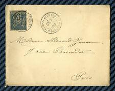 OBL.PEU COURANTE - Sage YT#90 s/lettre du CAMP du RUCHARD (Indre-&-Loire) - 1889