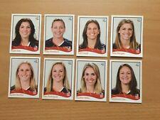 8 verschiedene Panini WM 2011 Germany Promo Stickers USA Spieler RAR