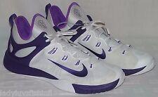 New Nike Men's Zoom HyperREV 2014 Basketball Shoes 742247-155 White Purple Sz 18