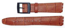 New Condor 16mm(19mm) Leather Strap Compatible for Swatch® Skin Watch Tan SC16