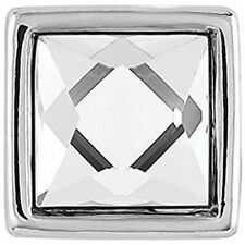 Gp05-09 Interchangeable Jewelry Snap. New Petite Ginger Snaps Square Clear Stone