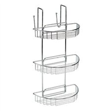 3 Tier Stainless Steel Non Rust 'Over Door' Shower Storage Caddy - Blue Canyon