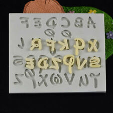 Silicone Letter Alphabet Bakeware Mould Cake Chocolate Ice Hand-make Decor Mold