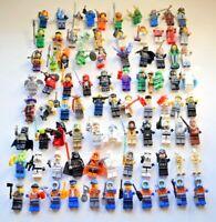 Lego 10 Mini Figures Random Selection Job Lot Bundle + Accessories Minifigures