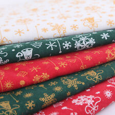 10x Christmas Fabric Snowflake Bell Patchwork Clothing Sewing Quilting Craft DIY