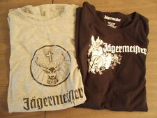 Lot of TWO NEW XL Grey and Black Jagermister T-shirts. Nice!!!