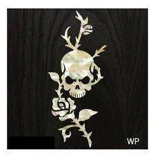 B-135RS-WT  Inlay Stickers,  Rose & Skull