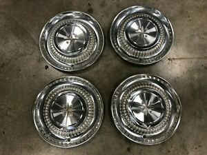 "1958 DESOTO FIRESWEEP HUBCAPS 14""   SET OF 4"