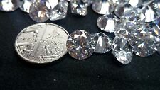 9mm White Cubic Zirconia Round Cut Loose Gemstone AAAAA lot of 5 stones