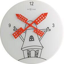 Orologio da parete cucina design vetro quadrante' ANALOGICO Ø30 cm bianco