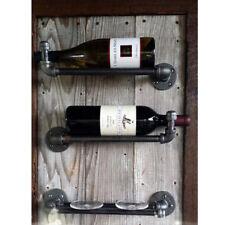 Blesiya Industrial Pipe Bottle Glass Holder Wine Gin Home Bar Cellar 12inch