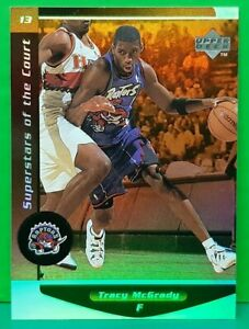 Tracy McGrady insert card Superstars Of The Court 1998-99 Upper Deck Ovation...