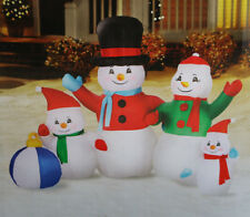 New Airblown Inflatable Snowman Family Christmas Holiday Yard Decor Gemmy