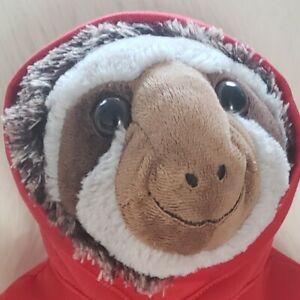 Dan Dee Sloth Plush Stuffed Animal Red Hoodie Sweatshirt XOXO Hugs Kisses