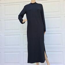 J. JILL Small BLACK Jersey WEAREVER Collection LONG SLEEVE Maxi DRESS long