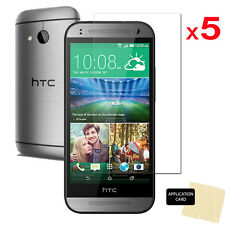 5 x ULTRA CLEAR LCD Screen Protector Cover Guard Shield for New HTC One Mini 2