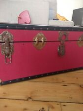Vintage Sea Chest, Steamer Trunk,  Blanket Box, Ottoman Storage, Coffee Table,