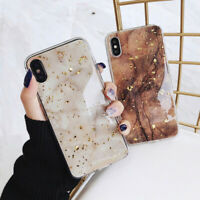 Bling Marble Case For iPhone 12 XR 7 8 Plus X XS SE 2020 11 Pro Max Phone Cover