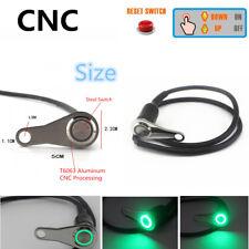 12V Green LED CNC Universal Motorcycle Handlebar Reset Switch Button Waterproof