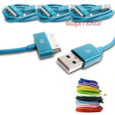 3X 3FT USB 30PIN AQUA BLUE CABLE DATA CHARGER FOR SAMSUNG GALAXY TAB P3100 P3110