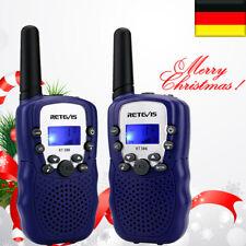 2XKinder Gifts Funkgerät Retevis RT388 PMR446 0.5W Walkie-Talkie 8CH Dunkelblau