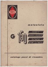 "Katalog Stücke Ersatz Gilera G150 "" Sport"""" Supersport """"Tourismus"""" Gt "" 1959"