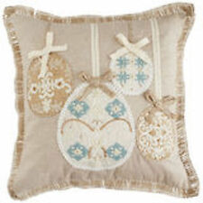 PIER 1 IMPORTS EMBROIDERED EASTER EGG THROW PILLOW 16X16 NWT More Styles Avail!