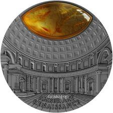 NIUE 2017 $5 RENAISSANCE AMBER ART 2 Oz Silver Coin.