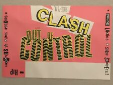 The CLASH Poster, Out Of Control, Original Vintage, Rolled, 18x12, Punk Rock