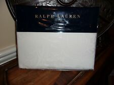 NIP Ralph Lauren Tuxedo Park Bailey White Jacquard Queen Flat Sheet $230