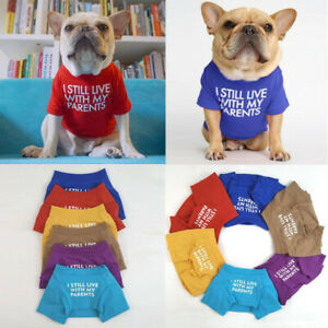 French Bulldog Fat Dog Clothes Pet Dogs Clothing Pet Shirt For Dogs T Shirt Vest