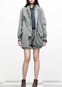 T By Alexander Wang Oversized Multipocket Bomber Jacket Sz L Nwt