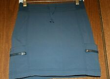 Athleta Woman Blue Nylon Blend Golf/Tennis Skorts/Skirt w/Meshed Shorts Inside 4