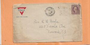 WW I U.S MILITARY COVER YMCA APR 16,1918 TRENTON DIX BRANCH