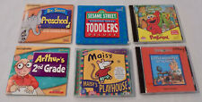 Vintage CD ROM Lot of 6 Kids Educational - Preschool, 2nd Grade, Toddlers