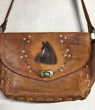 Genuine Leather Shoulder Bag Horse Western Large Hand Crafted