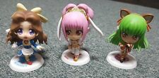 Code Geass in Wonderland- Nunnally, Anya & C.C.- Chara Chibi Figures- Banpresto
