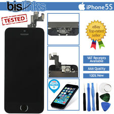 Black iPhone 5S Screen Replacement LCD Digitizer Touch Home Button Camera Tools