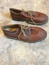 Dr. Doc Martens Lace Up Oxford Casual Shoe Womens Size 5 Brown Leather Nice