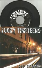 LUCKY THIRTEENS Cop Street 2 UNRELASED ONLY 300 MADE 7 Inch Vinyl HAND NUMBERED